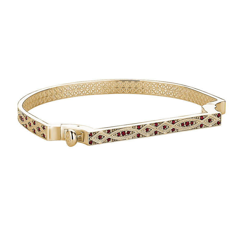 14k Gold Streamline Bangle with Ruby