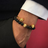 Leo Beaded Bracelet - Solid Gold