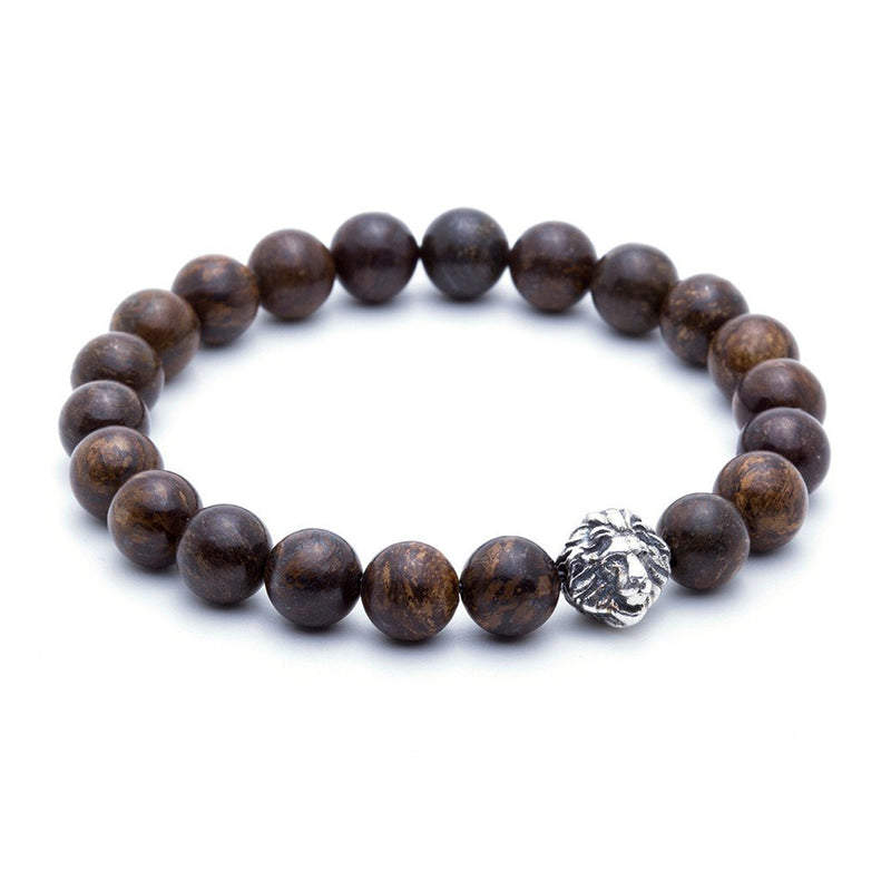 Exclusive Leo Beaded Bracelets - Oxidised Silver - Bronzite