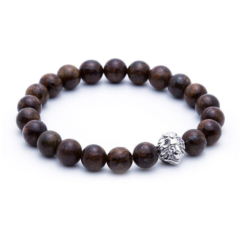 Exclusive Leo Beaded Bracelets - Silver - Bronzite