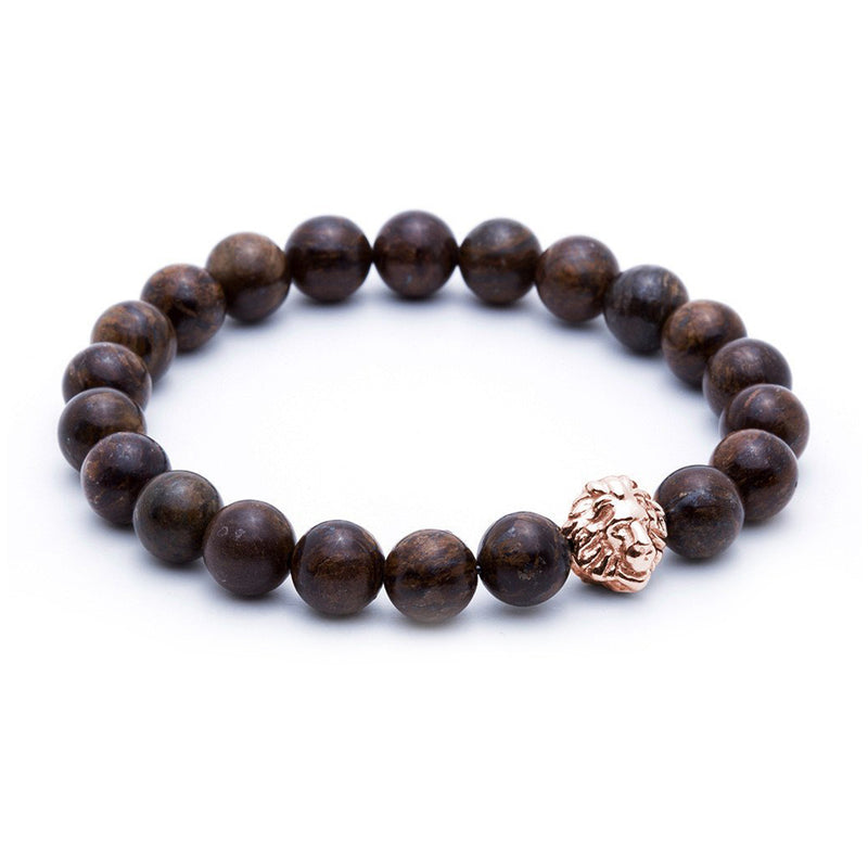 Exclusive Leo Beaded Bracelets - Rose Gold - Bronzite