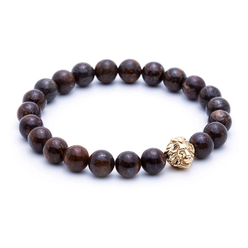 Exclusive Leo Beaded Bracelets - Yellow Gold - Bronzite