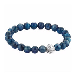 Exclusive Leo Beaded Bracelets - Silver - Kyanite