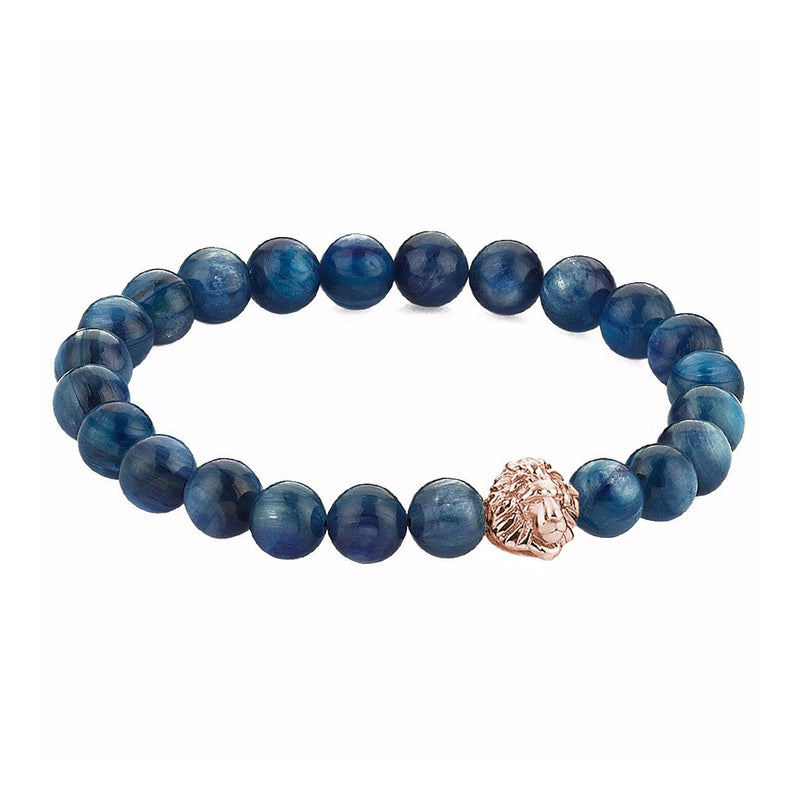 Exclusive Leo Beaded Bracelets - Rose Gold - Kyanite