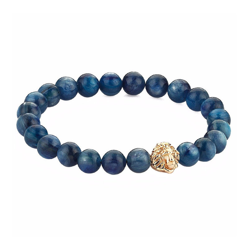 Exclusive Leo Beaded Bracelets - White Gold - Kyanite