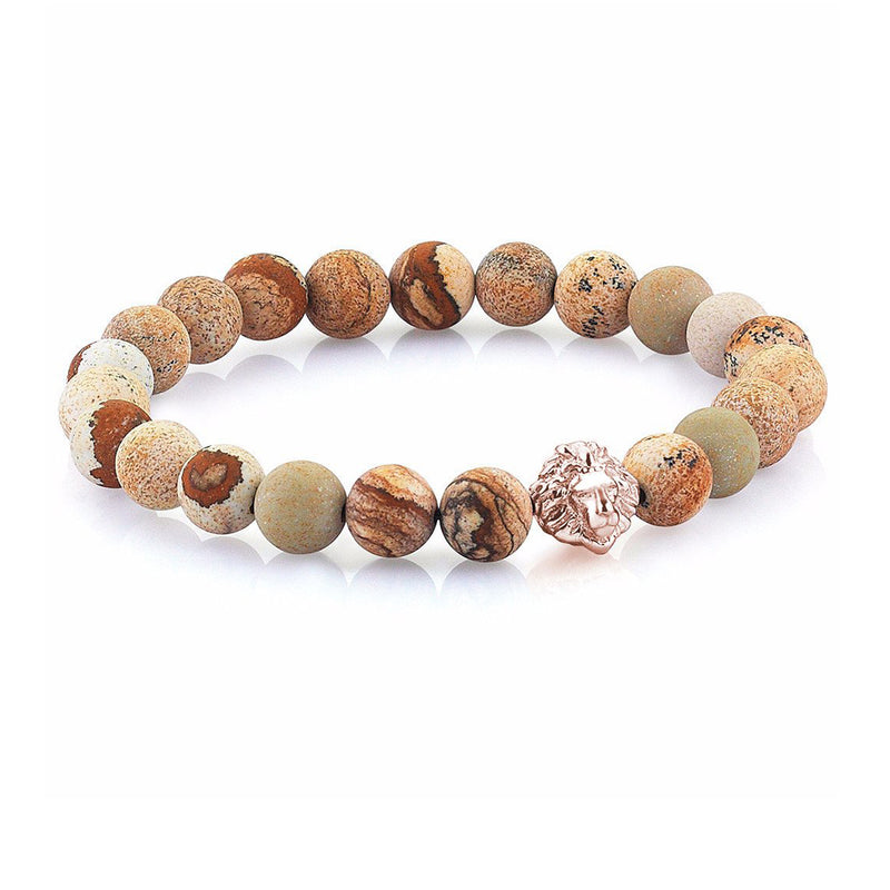Leo Jasper Beaded Bracelet - Brown Jasper