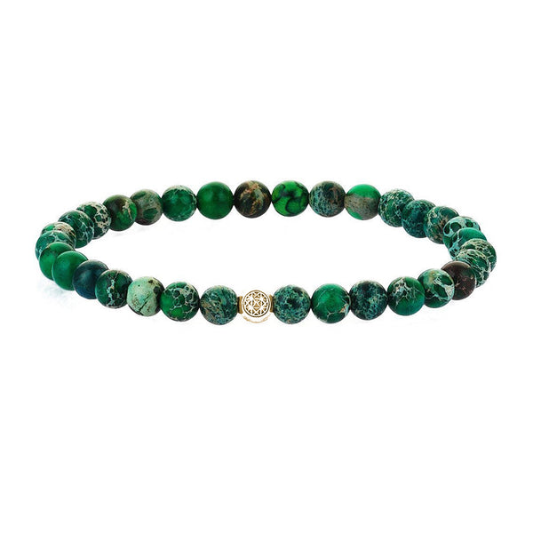 Atolyestone Jasper Essentials - Yellow Gold - Green Jasper