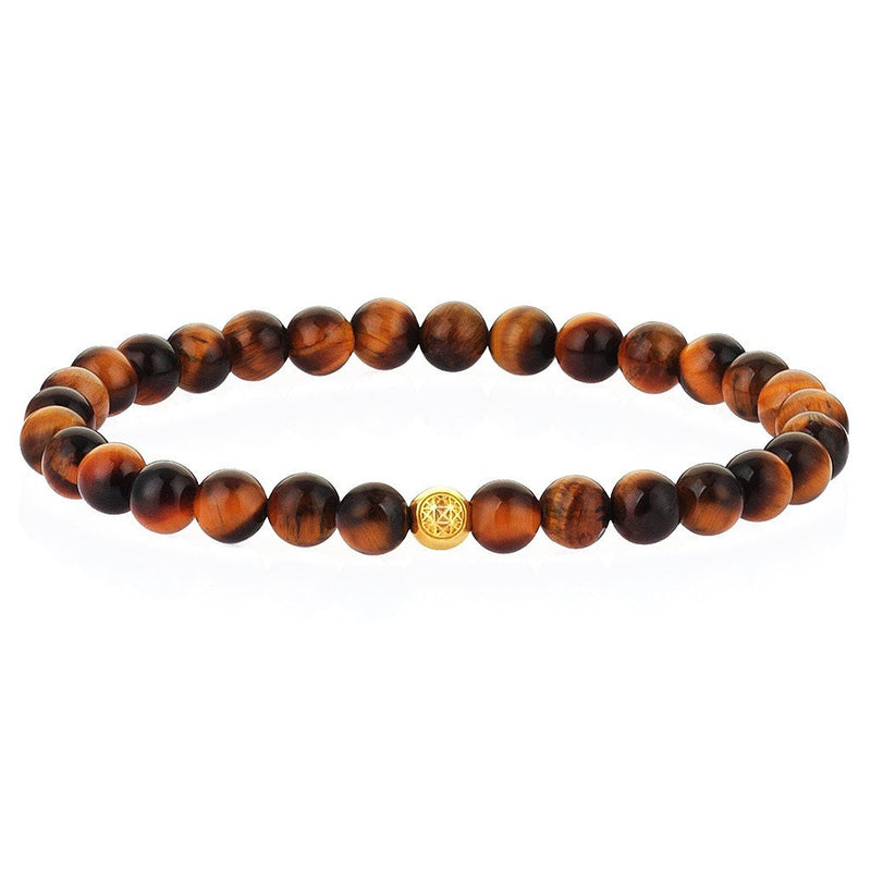 Women's Atolyestone Essentials - Yellow Gold - Tiger Eye