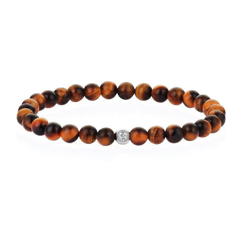Tiger Eye Mens Beaded Bracelet