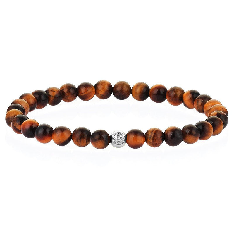 Women's Atolyestone Essentials - Solid Silver - Tiger Eye