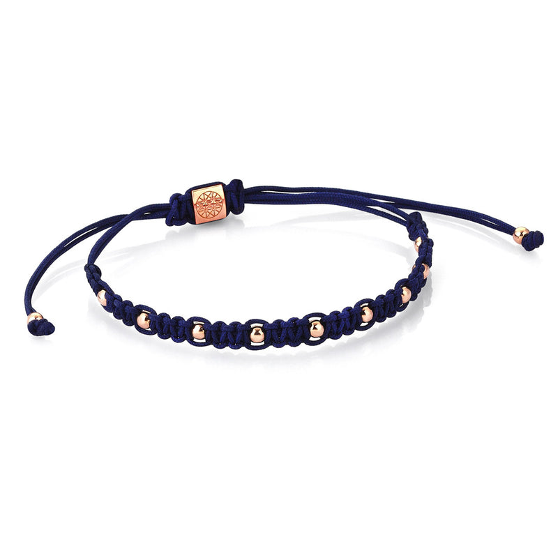 Women's 9 Balls Macrame - Rose Gold - Navy