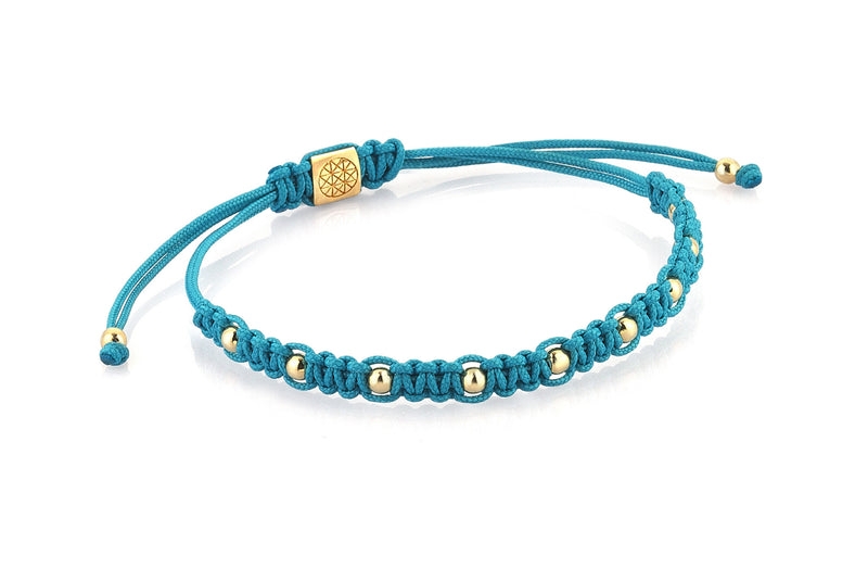 Women's 9 Balls Macrame - Yellow Gold