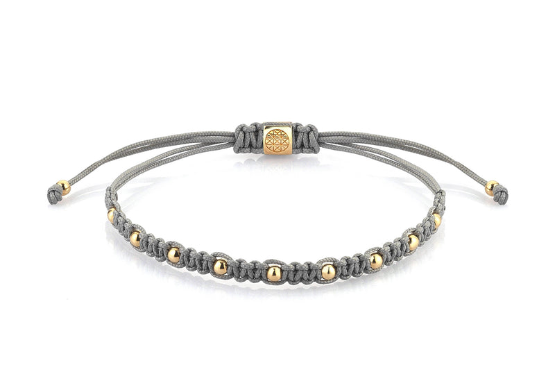 Women's 9 Balls Macrame - Yellow Gold - Grey