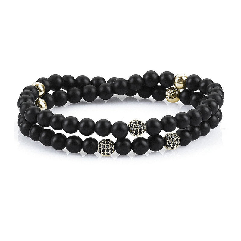 Mens Wrap Beaded Bracelets - Agate