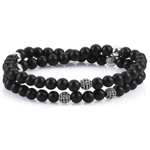 Women's Exclusive Leo Beaded Bracelets - Solid Silver