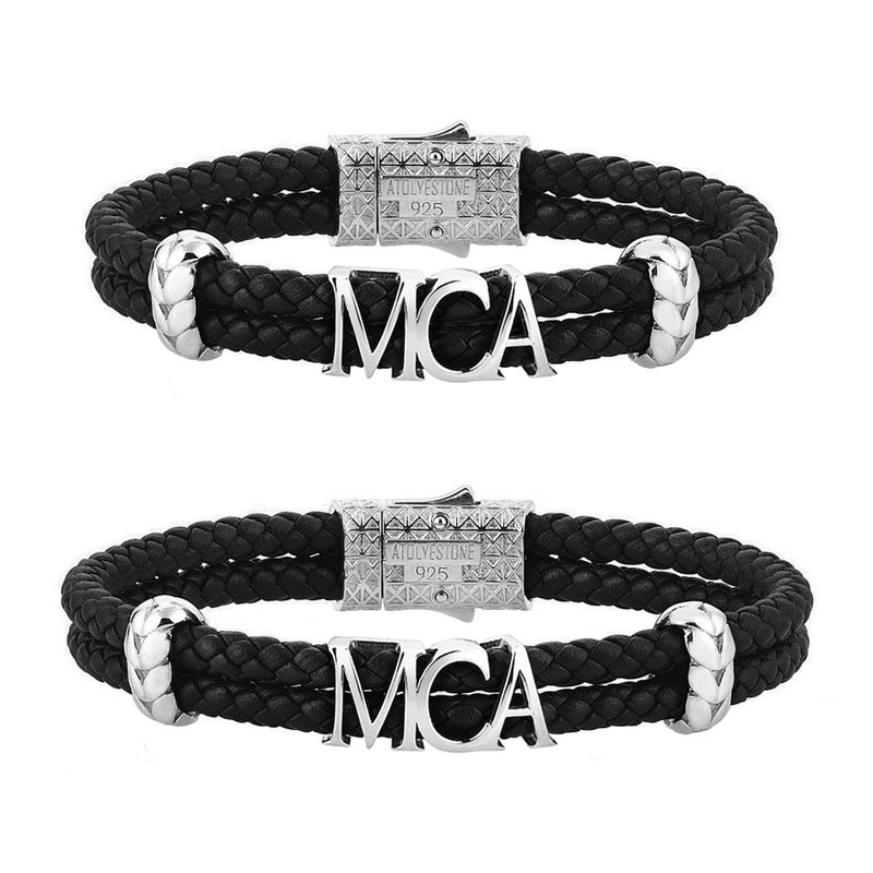 Leather Couple Bracelets with Letters