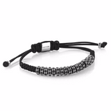 Women's Round Macrame Stoppers - Black