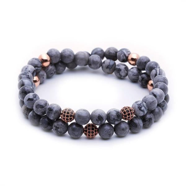 Women Double Jasper Beaded Bracelets