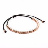 Men 30 Balls Macrame Bracelet Silver - Plating Color Rose Gold