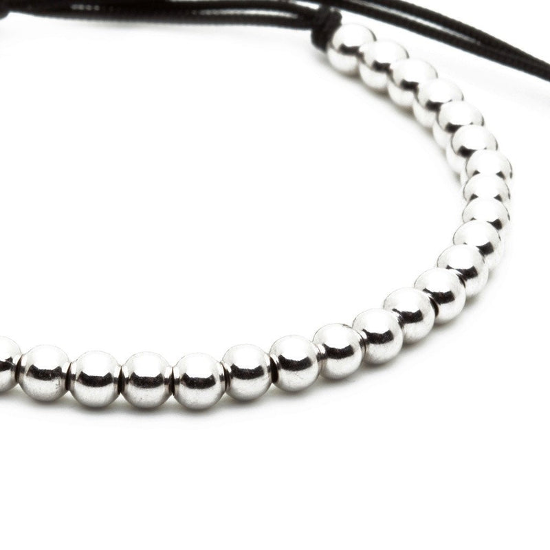 30 Balls Macrame Bracelet Silver for Men - Plating Color Silver