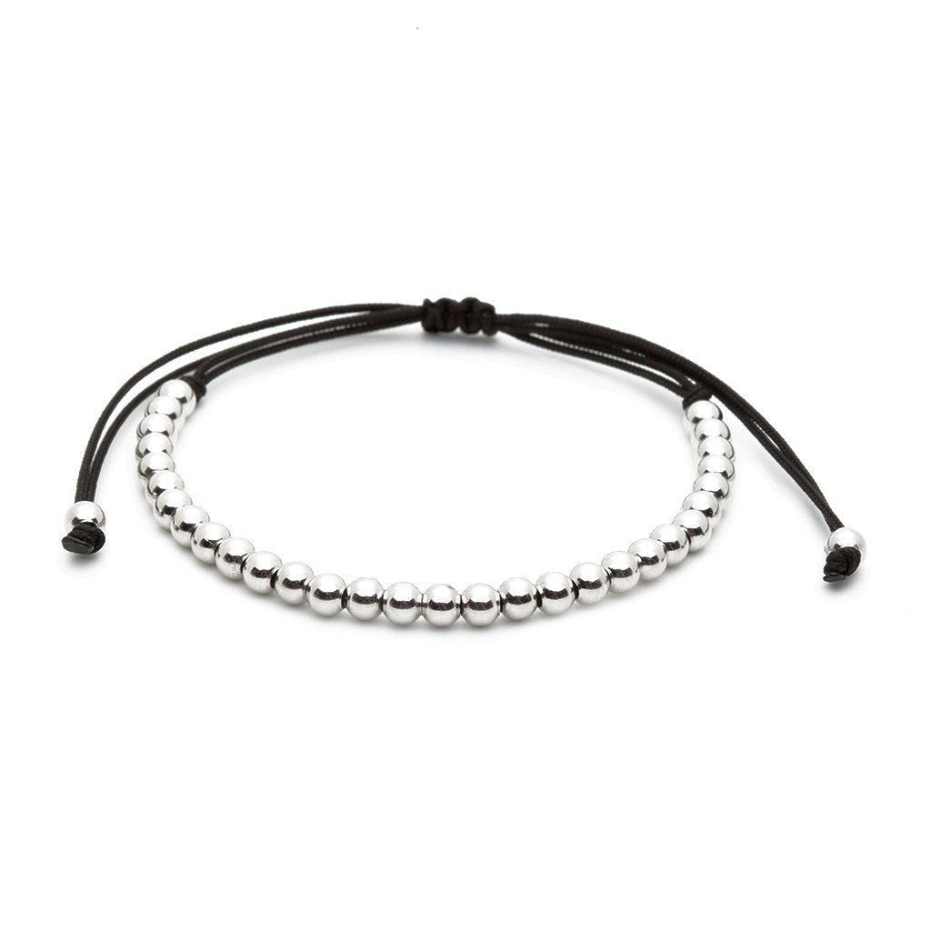 Men 30 Balls Macrame Bracelet Silver - Plating Color Silver