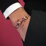 Anchor Bangle - Silver Plating Rose Gold