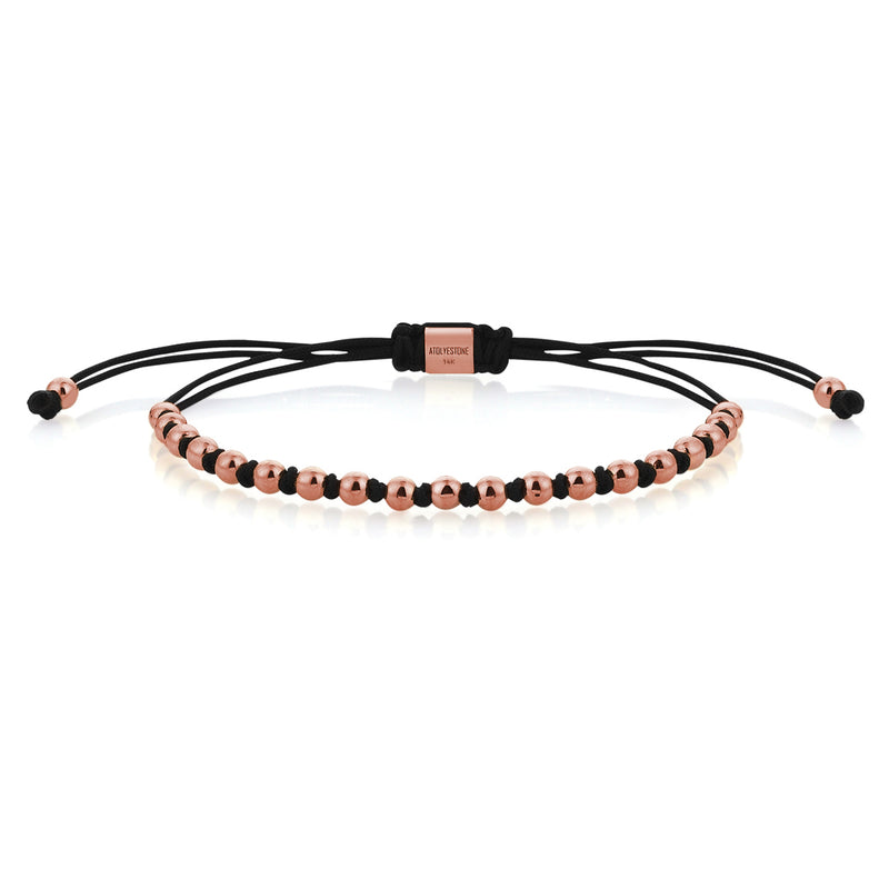 Macrame Knots - Rose Gold - Black