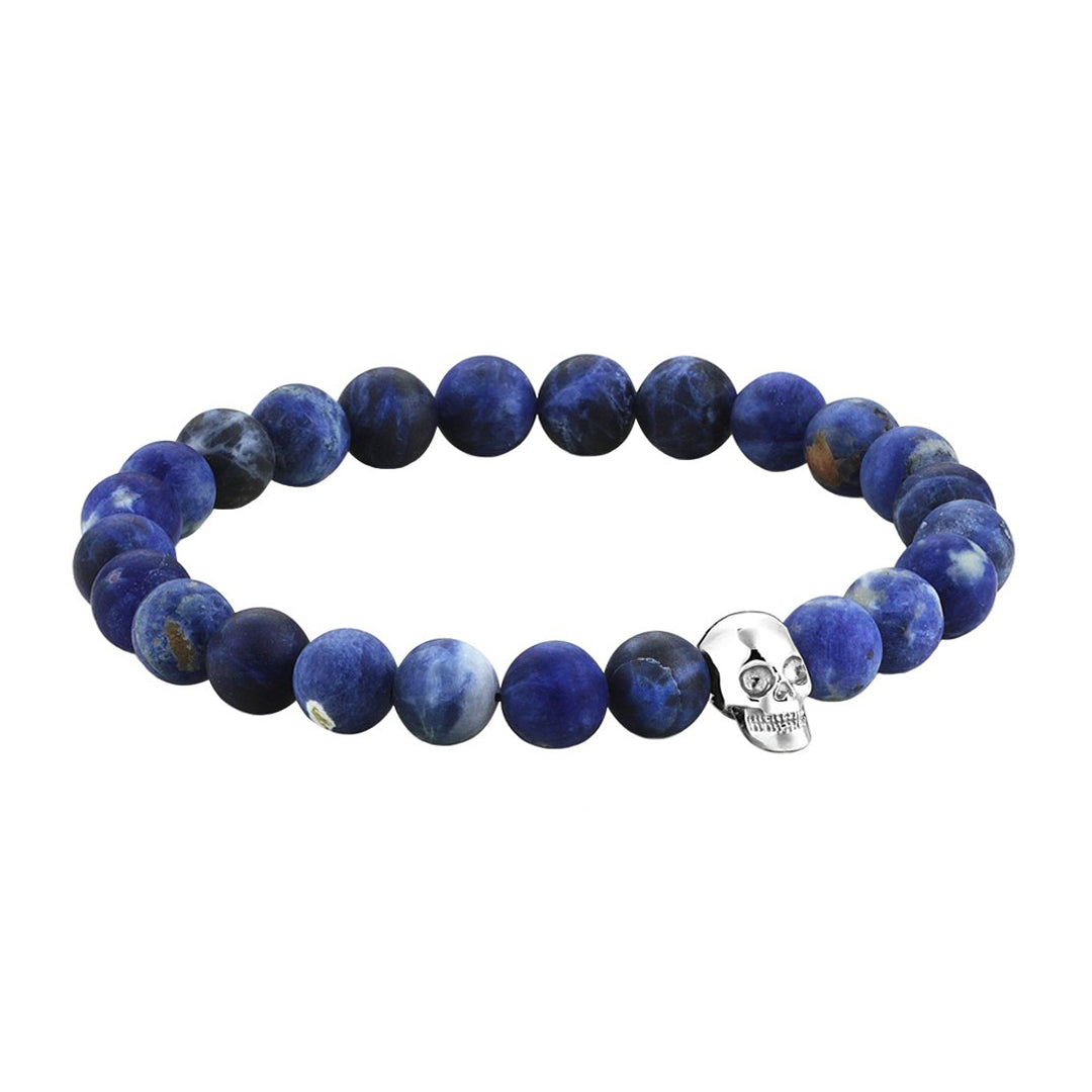 Exclusive Skull Beaded Bracelet - Solid Gold