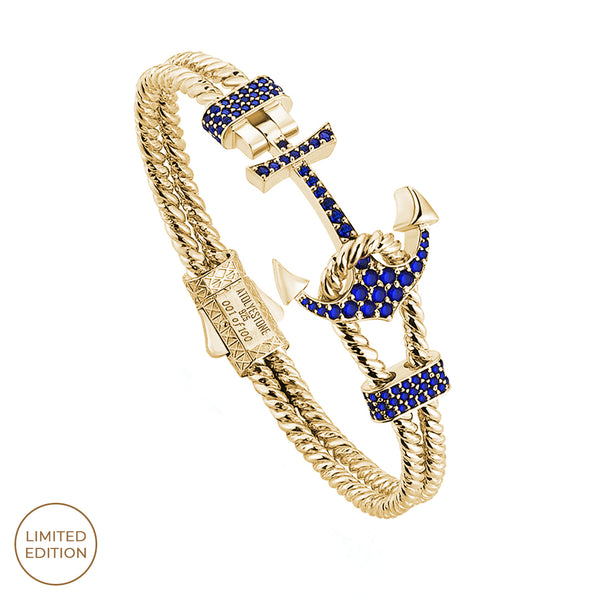 Twined Anchor Bangle - Blue