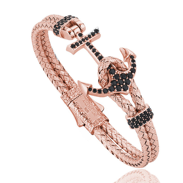 Women's Rose Petite Anchor Bracelet - Rose Gold