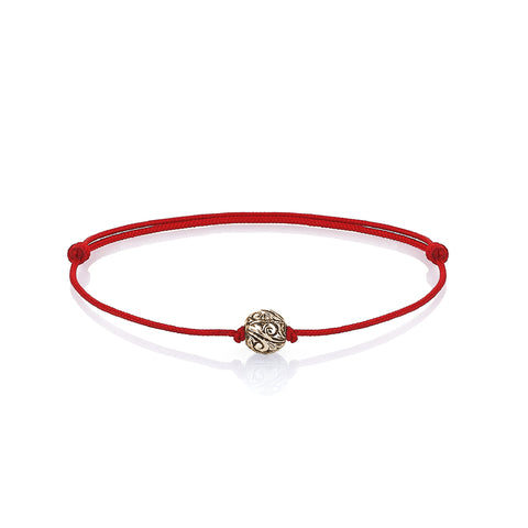 Classic Anchor Leather Bracelet - Solid Rose Gold