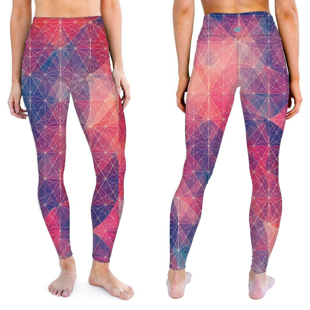 Zions Den Apparel  Berry Polyagonal Active Leggings