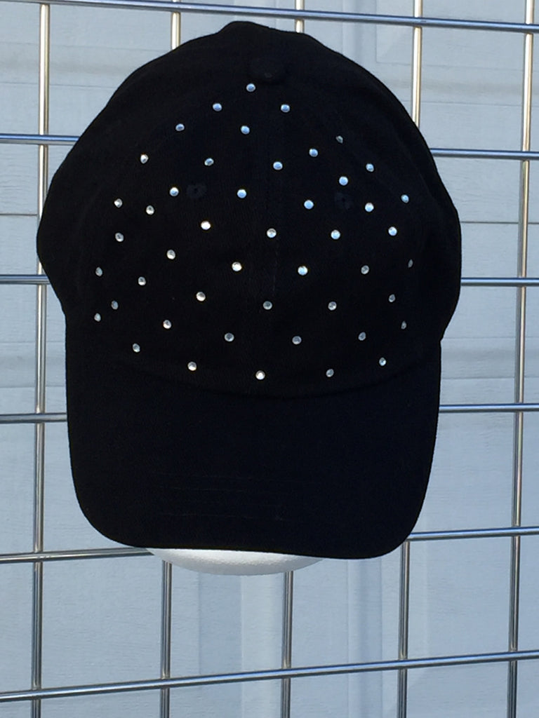 Stones All Over Crown Bling Baseball Cap-A Mom's Attic