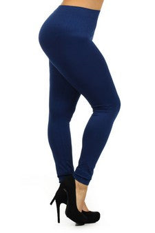 Basic Leggings - Plus Size  (XL) Solid Leggings