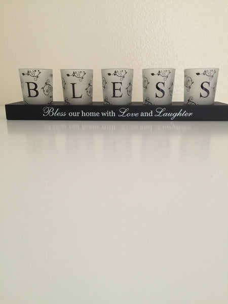 Bless our Home Candle Holder-A mom's Attic