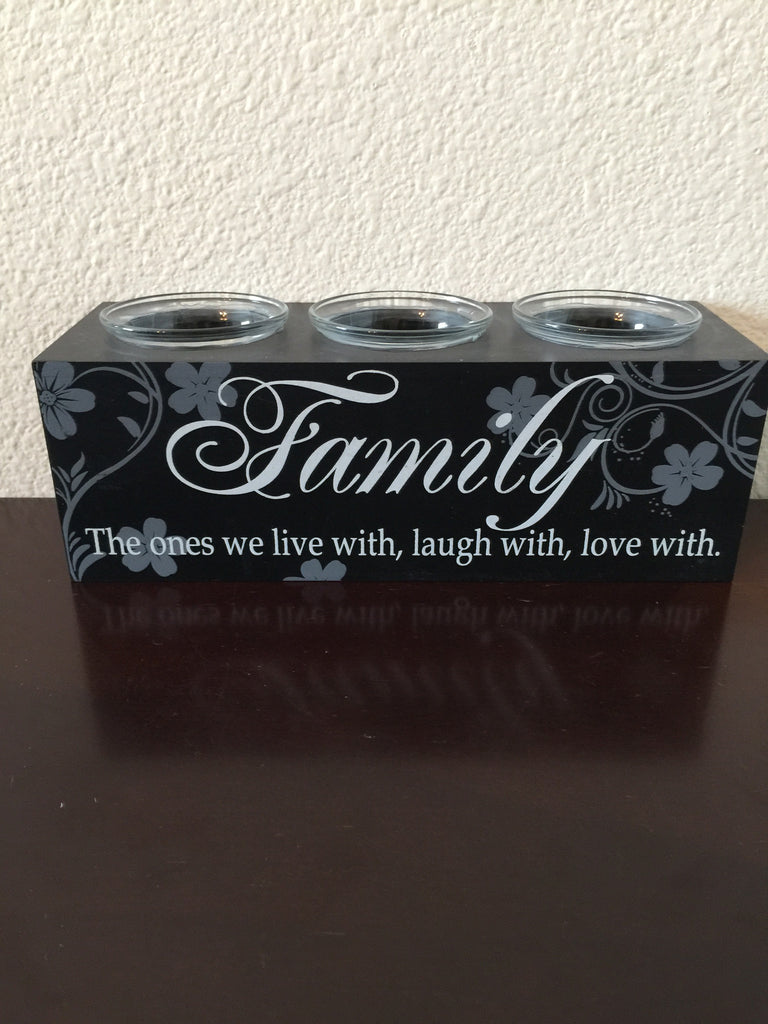 Candle Holder - Family Inspirational Votive Candle Holder-A Mom's Attic