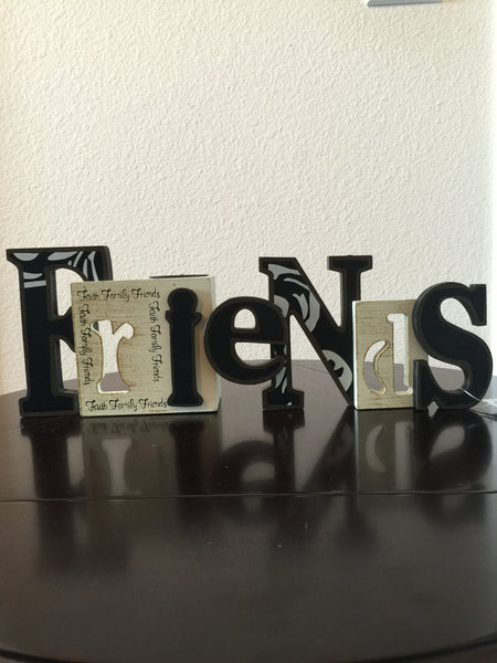 Candle Holder - Friends Cut- Out With T-Light Candle Holder-A Mom's Attic