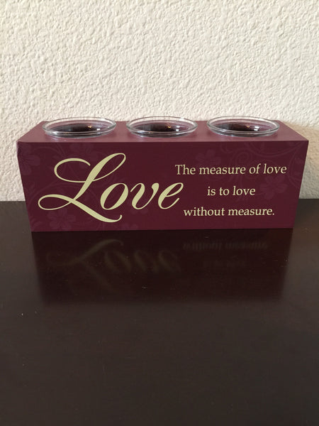 Candle Holder - Love Inspirational Candle Holder-A Mom's Attic
