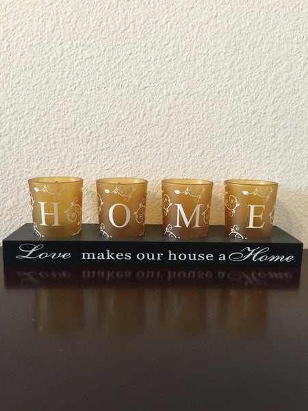 Candle Holder - Love Makes Our House A Home Candle Holder