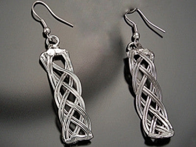 Silver Plated Earrings-A mom's Attic
