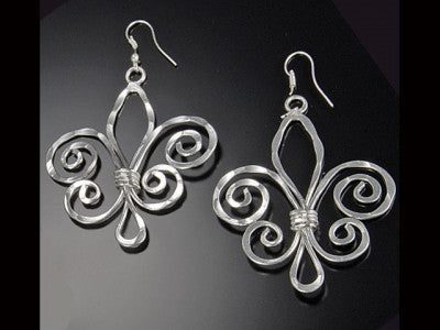 Earrings - Fleur De Lis Earrings-A Mom's Attic