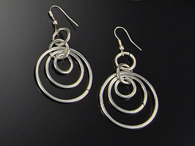 Earrings - Four Circle Earring-A Mom's Attic