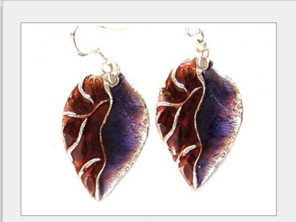 Earrings - Leaf Earrings-A Mom's Attic