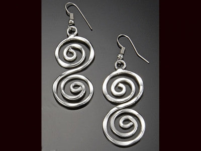 "Earrings - Spiral ""S"" Earrings"