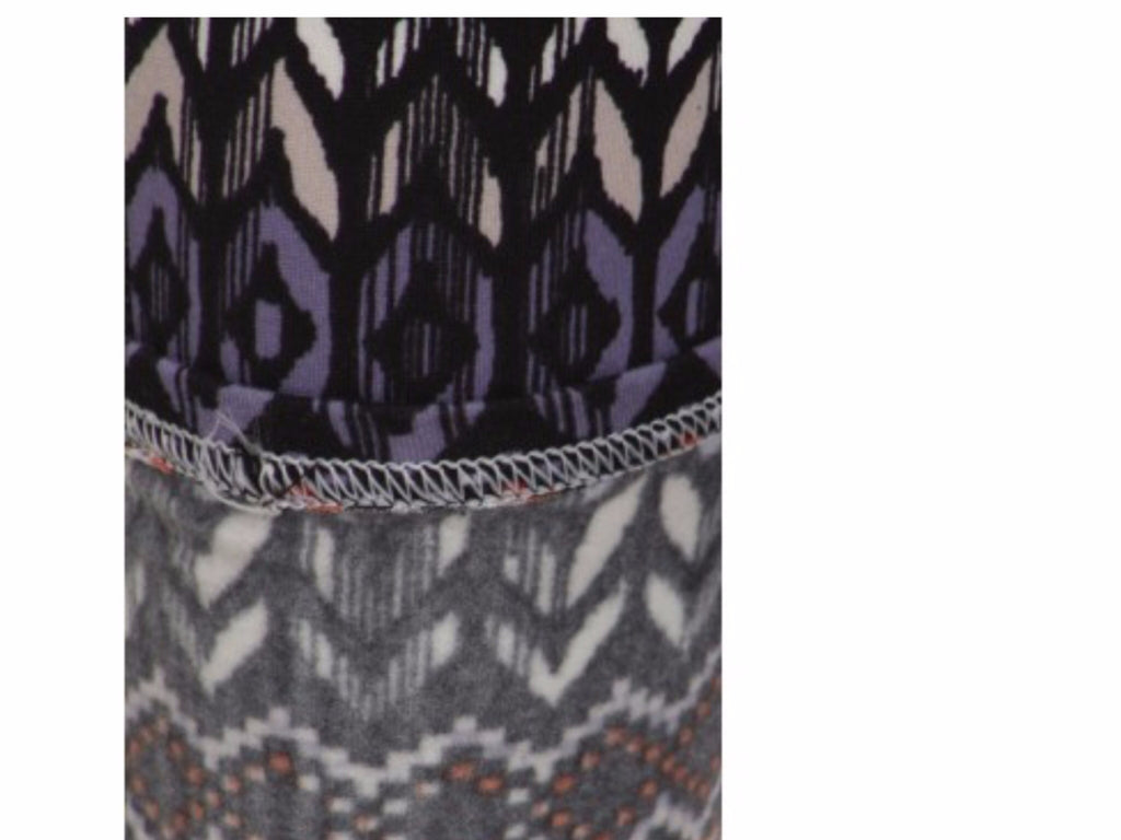 Fleece Lined Leggings Abstract Print Fleece Lined Leggings