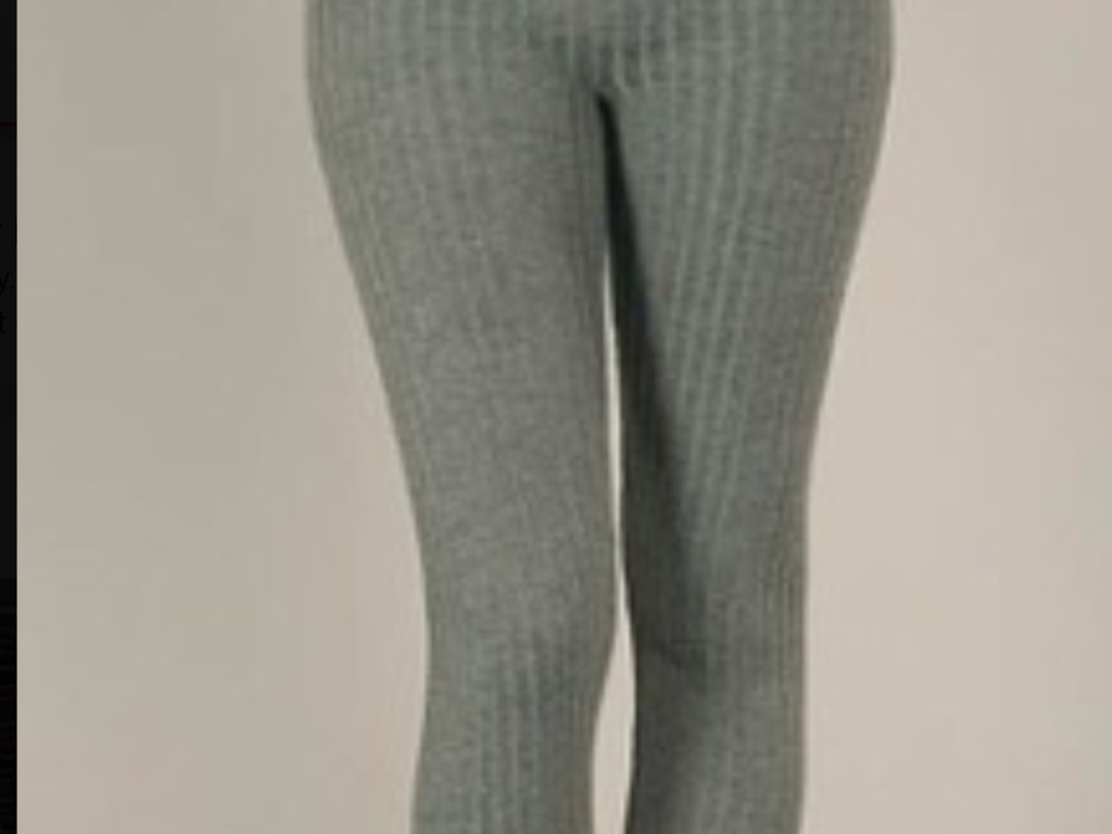 Fleece LIned Legging - Hi Waist Solid Color Textured Fleece - Lined Leggings-A Mom's Attic