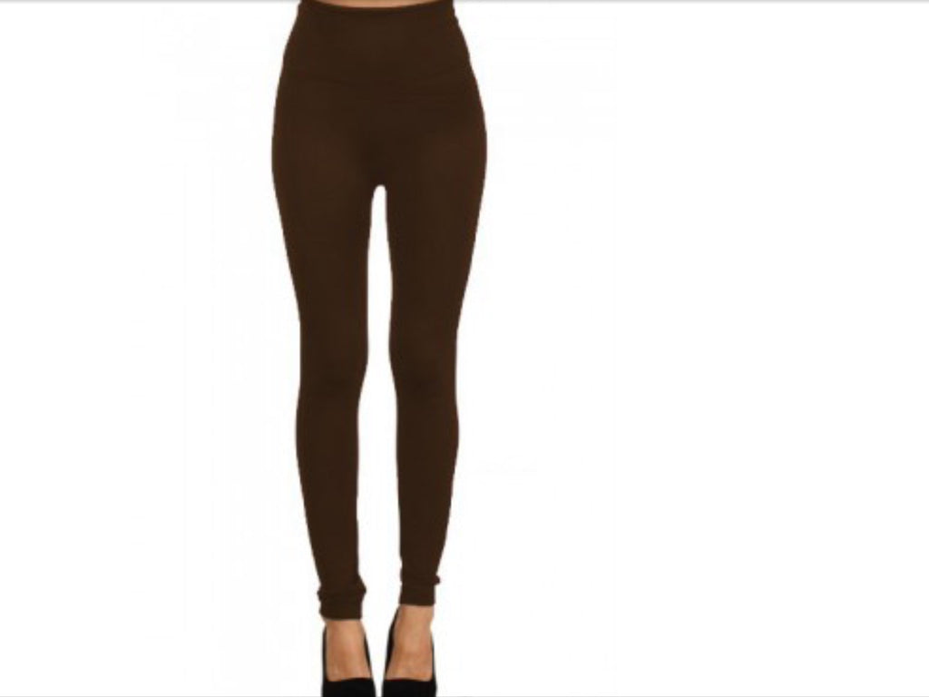 Fleece LIned Legging - Solid Colored Fleece Lined Leggings - Assorted Colors Available