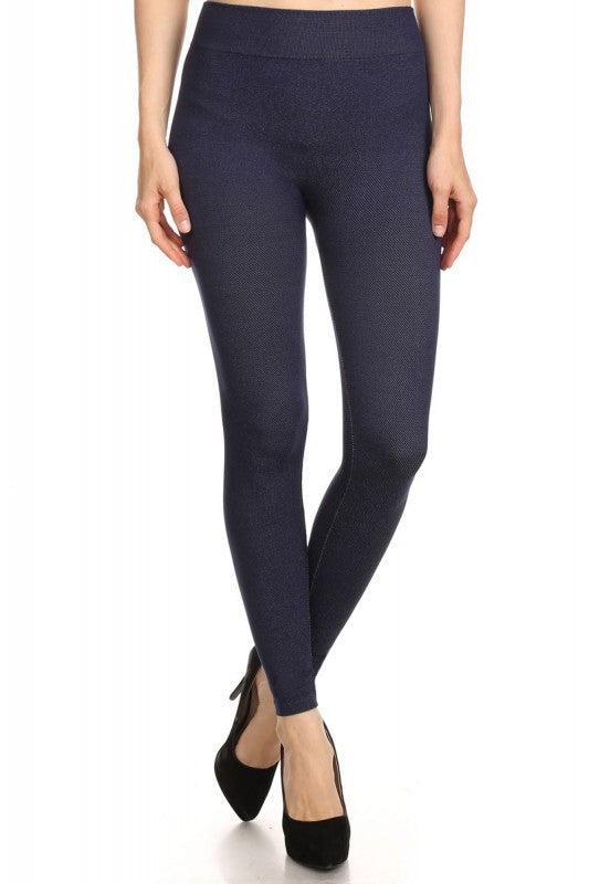 French Terry Leggings - Heather Twill French Terry Leggings