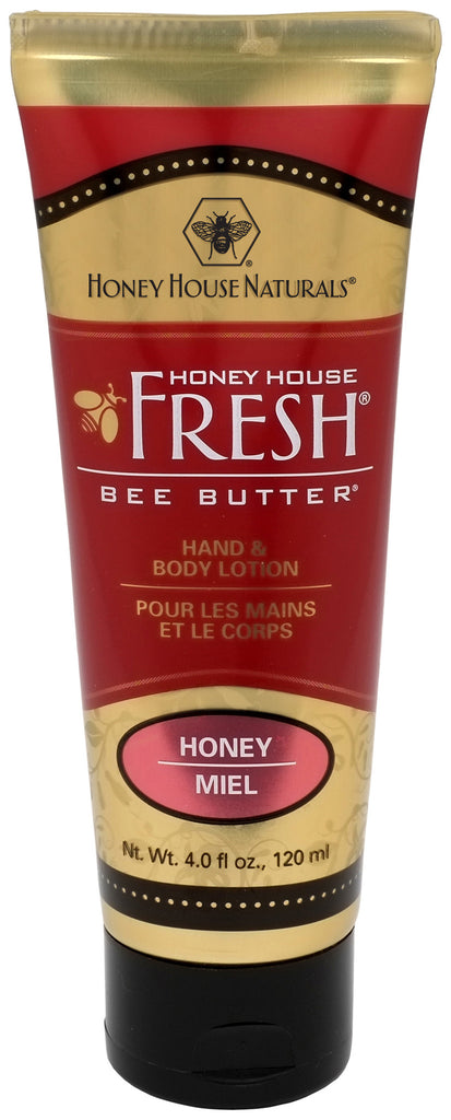 Lotion - Honey House Naturals Bee Butter® Hand & Body Lotion 4 Oz. Tube