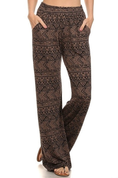 Black&Coffee colored Palazzo Pants-A mom's Attic